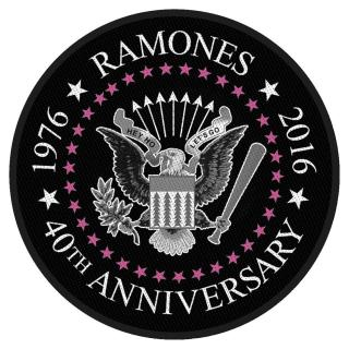 Ramones - 40th Anniversary Seal Patch Aufnäher