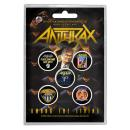 Anthrax - Among The Living Button-Set