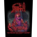 Death - Scream Bloody Gore Backpatch Rückenaufnäher