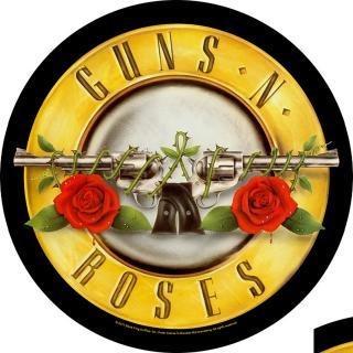 Guns N Roses - Bullet Logo Backpatch Rückenaufnäher