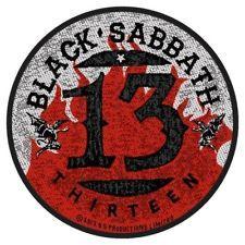 Black Sabbath - 13 Flames Circular Patch Aufnäher
