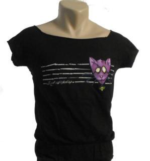Good Charlotte - Purple Cat Damen Shirt Gr. L