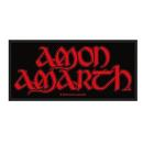 Amon Amarth - Red Logo Aufnäher