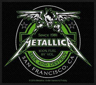 Metallica - Beer Label Aufnäher