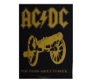 AC/DC - For Those About To Rock Gold -  Backpatch...