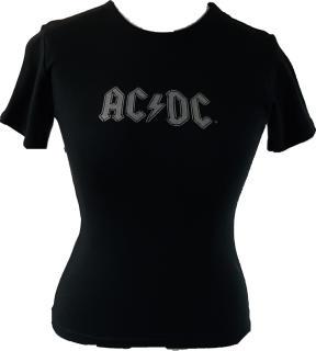 AC/DC - Silver Logo Damen Shirt Shirt Gr. M