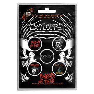 The Exploited - Punks Not Dead Button-Set