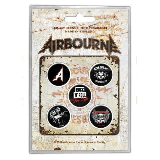 Airbourne - Boneshaker Button-Set
